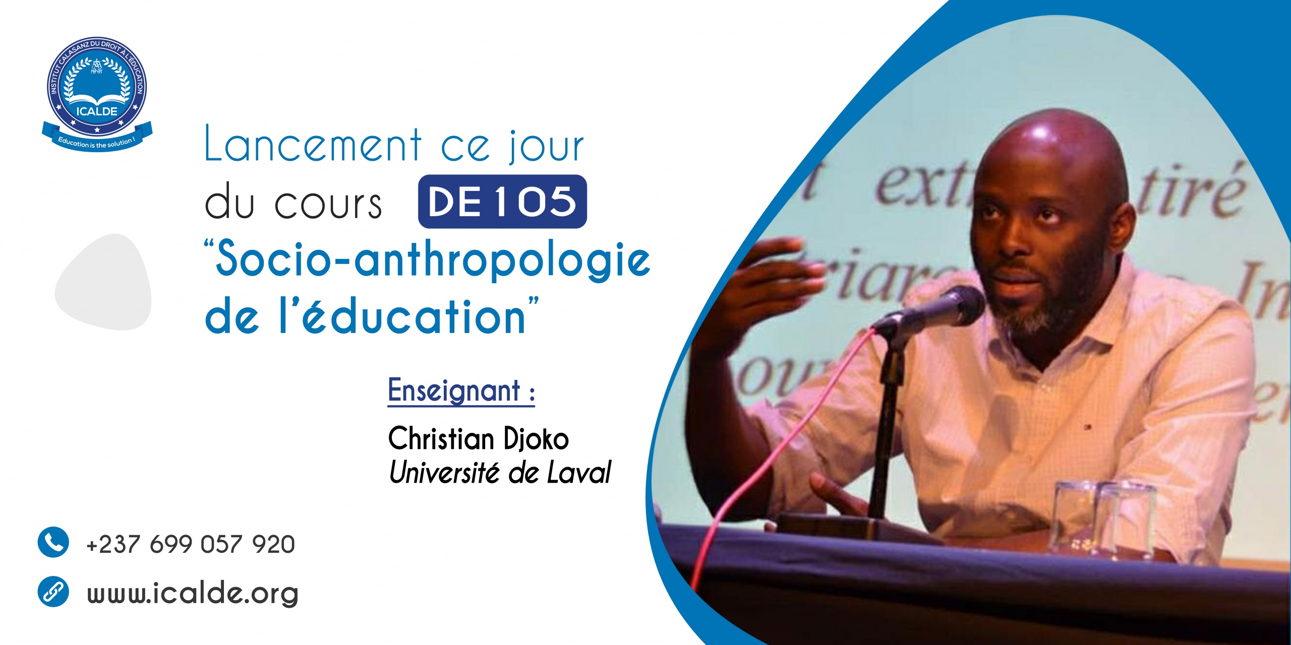 Lanzamiento del curso de SOCIOANTROPOLOGÍA DE LA EDUCACIÓN